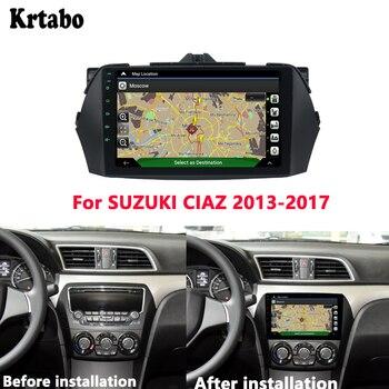 Reproductor multimedia Android de radio de coche de Krtabo 4G RAM para SUZUKI CIAZ 2013-2017 pantalla táctil de coche GPS soporte Carplay