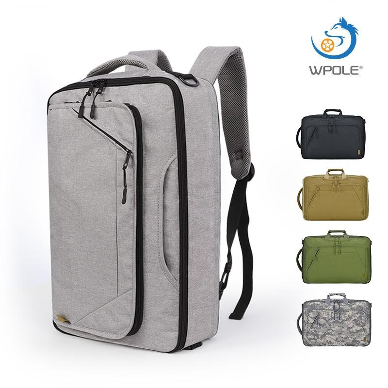 2019 Brand Designer Men's Briefcase Canvas Crossbody Bags For Men 17 Inch Laptop Shoulder Bags Buisness Office Men Messenger Bag