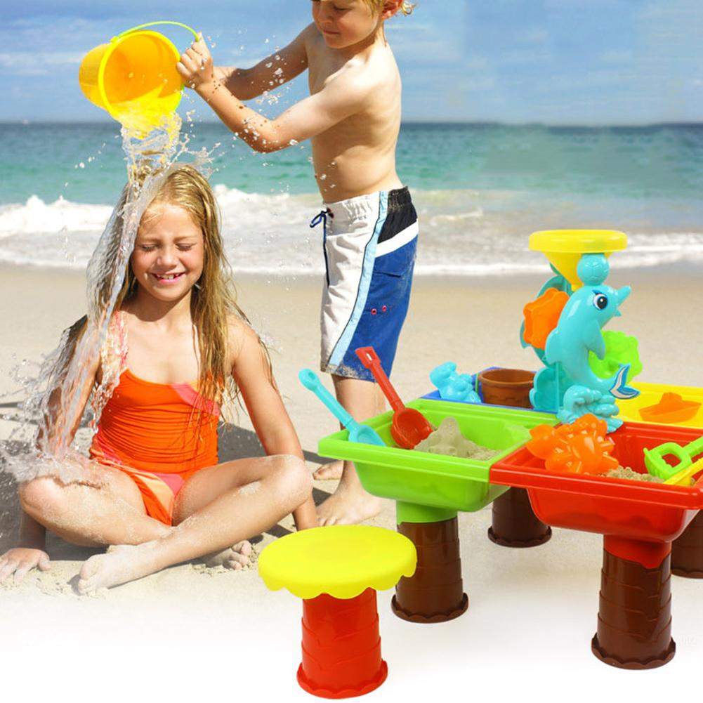 Kids Outdoor Summer Beach Sand Digging Tool Water Playing Plastic Table Toy Kit Kids Educational Toys For Children Gift