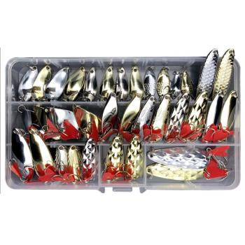 10/25/35 PCS Metal Jig Fishing Lure Set Sequin Ultralight Kit Bait Anti-rust Tackle Wobblers Artificial Hot sale