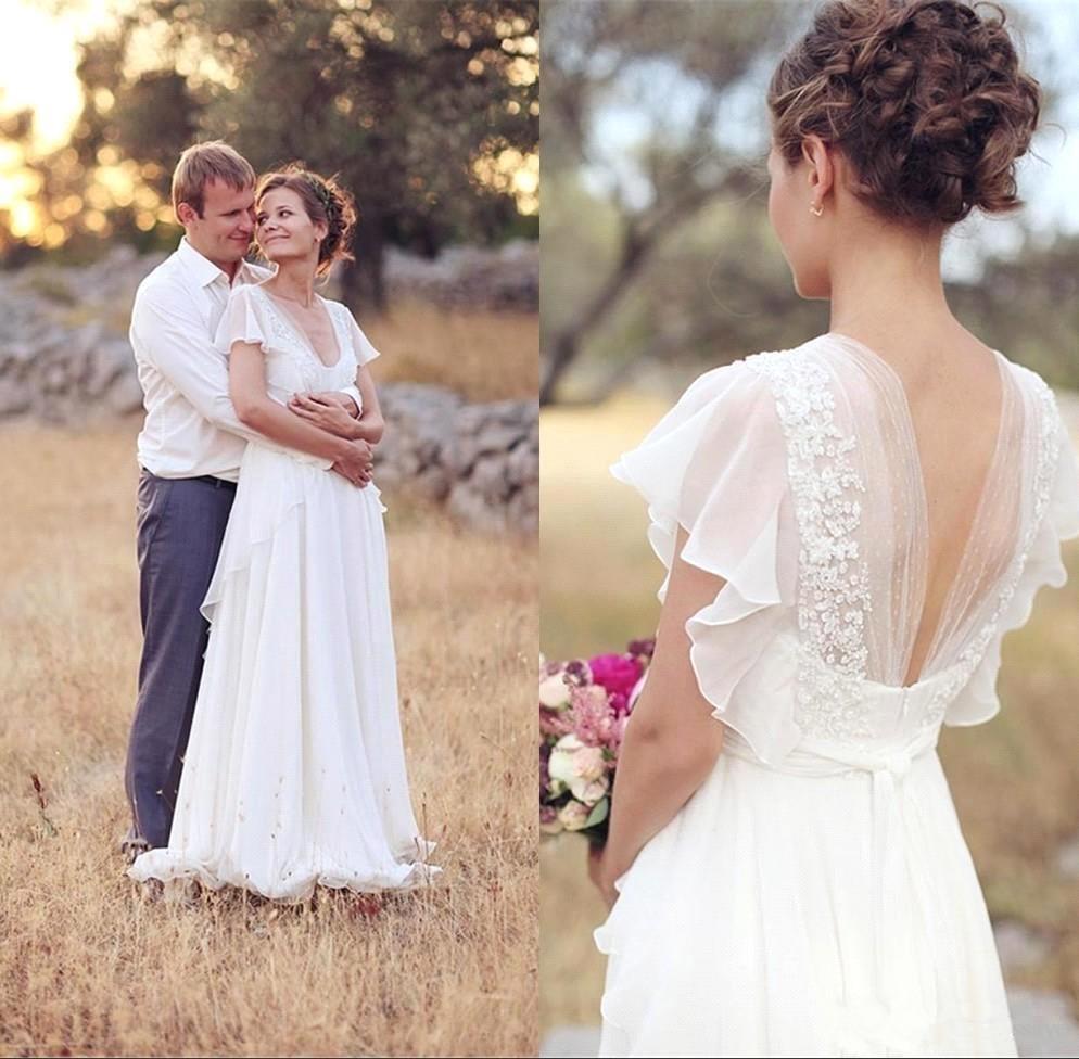 Vestidos De Novia 2019 White Lace Simple Wedding Dresses Plus Size Short Sleeves Bridal Dress Floor Length Beach Wedding Dress Buy At The Price Of 119 92 In Aliexpress Com Imall Com,Short Wedding Dresses 2020