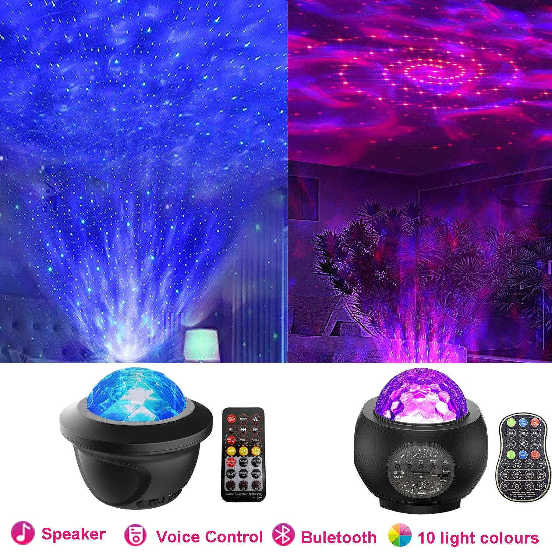 Светодиодный проектор ночного света звездное небо Галактика для детской комнаты Buletoth динамик