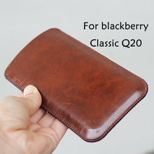 Classic Q20 Universal Fillet holster Phone Straight leather case retro simple style For blackberry pouch