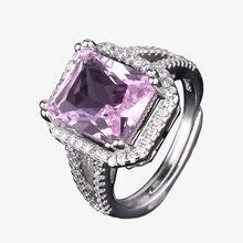 Женское кольцо из 100% стерлингового серебра 925 пробы с натуральным