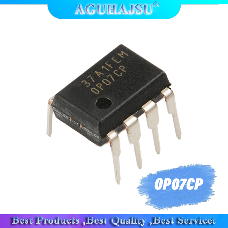 10PCS OP07CP DIP8 <font><b>OP07</b></font> DIP new and original IC Low noise operational amplifier image
