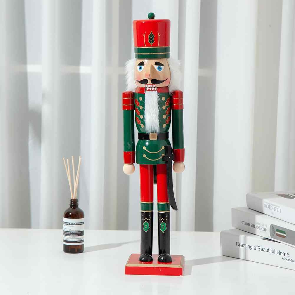 CHRISTMAS WOODEN EXTRA LARGE NUTCRACKER SOLDIER DECORATION 62CM NEW FREE POSTAGE