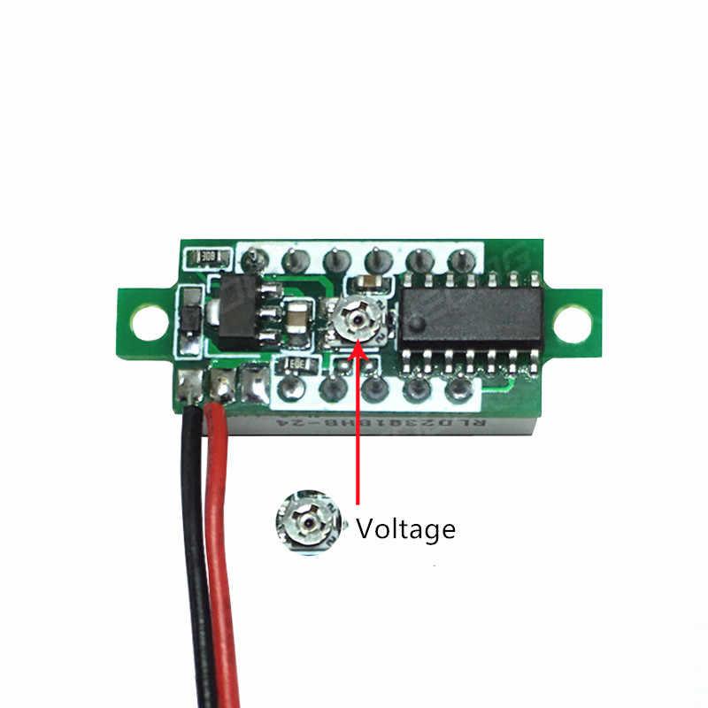 デジタル電圧計 0.28 インチ DC LED 電圧計 0-30V 12 12v オートカーモバイル電源オートバイテスター検出器赤、緑、青