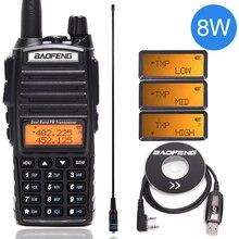 Baofeng UV-82 Plus 8 Вт Высокая мощность Двухдиапазонная рация VHF/UHF 10 км длинный диапазон UV82 двухстороннее Ham CB Любительское портативное радио