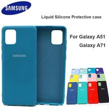Für Samsung Galaxy A51 A71 Fall Hohe Qualität Weiche Silikon Abdeckung Samsung Galaxy a71 a51 Protector Shell Mit Logo amp tasten cheap CN (Herkunft) Halb gewickelt Fall A71 A51 Silicone case Plain