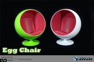 1/6 Scale Rotatable Egg Chair Mini Chair Dollhouse Miniature Furniture Toys for 12
