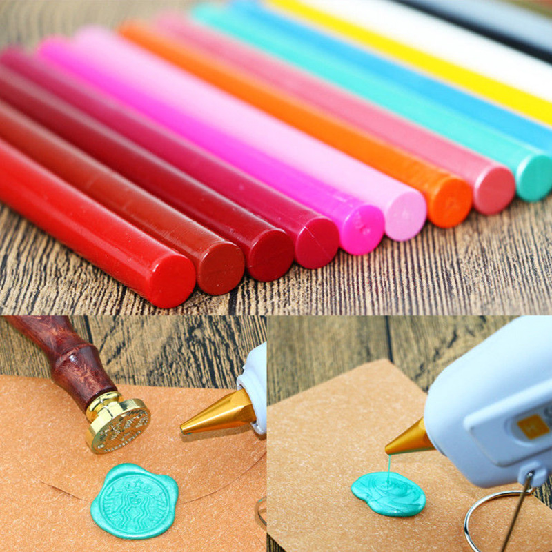 2 Seal Wax Stamp Stick Glue Gun Compatible Wedding Party Invitation Card Sealing Strips Seal Dedicated Christmas Decoration Gift