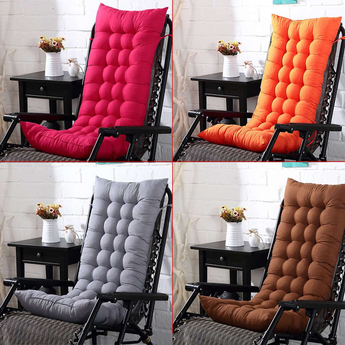 Lounge Chair Cushion Soft Relaxing Lazy Sofa Seat Cushion Floor Deck Chaise Pad Patio Pool Backyard Garden Home Comfortable