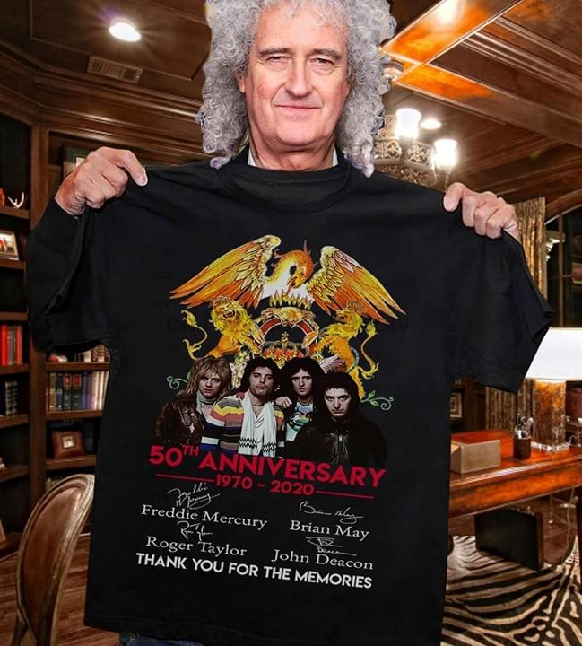 Футболка с надписью «Queen 50Th Anniversary 1970», 2020|Футболки|   | АлиЭкспресс