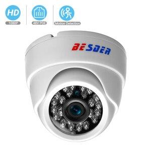 Image 1 - BESDER ONVIF 2.8mm szeroki aparat IP 1080P 960P 720P P2P RTSP wykrywanie ruchu e mail Alert XMEye DC12V POE48V wewnętrzne kamery CCTV