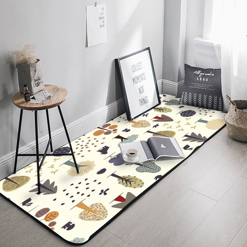 Bathroom Carpet Door-Mat Kitchen-Mat Absorbent Long-Strip Living-Room Thick Non-Slip
