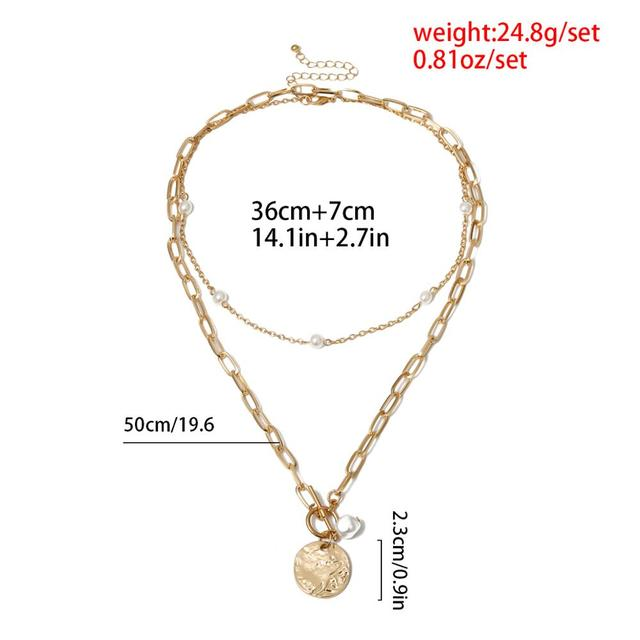 pearl and bar lock necklace 5