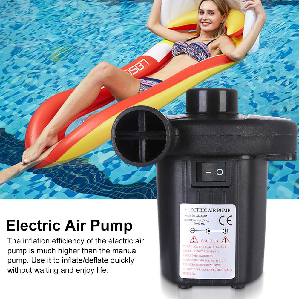 Electric Air Pump With 3 Nozzles Portable Quick-fill Pump Fast Inflator For Inflatable Pool Floats Cushions Air Mattress Boats
