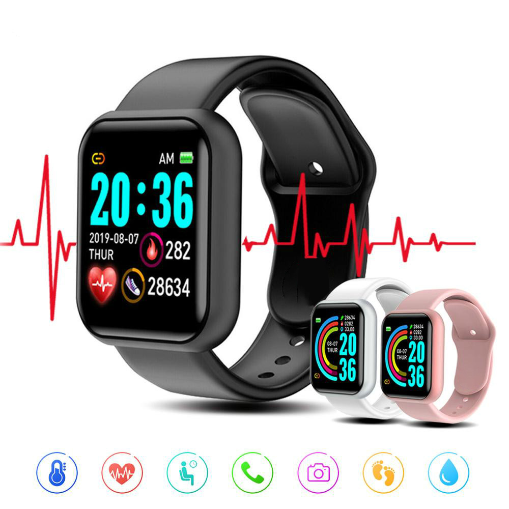 Y68 Smart Watch Women Men Sport Bluetooth Smart Band Heart Rate Monitor Blood Pressure  Fitness Tracker Bracelet for Android IOS