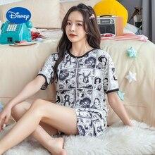 Pajamas Mickey Donald Disney Shorts Female Women's Summer Home Cartoon Snow-White Couple