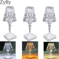 1-3 PCS Diamond lampada da tavolo decorazione acrilica lampade da scrivania per camera da letto comodino Bar apparecchi di illuminazione in cristallo regalo luce notturna a LED
