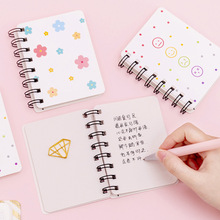 Kawaii Notebook Diary Double Ring Cartoon Anime Mini MemoPad Notes To Do List Stationary Cute Journal for School Office of breeds beauty american staffordshire terrier january notebook american staffordshire terrier record log diary special memories to do list academic notepad scrapbook