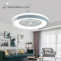 LED Modern Ceiling Light Fan C007 80W AC220V Three Speed Fan Indoor Ceiling Fans with lights With Remote Control Dimmable