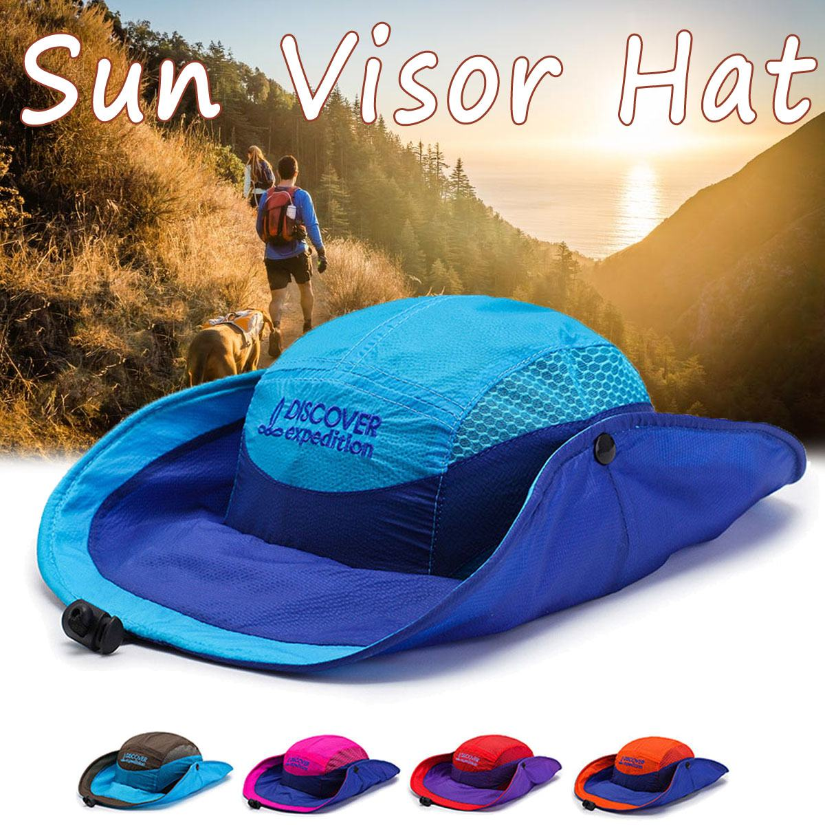 2019 Summer Sun Hat Bucket Summer Men Women Unisex Fishing Hat Sun UV Protection Long Large Wide Brim Hiking Outdoor wholesale image