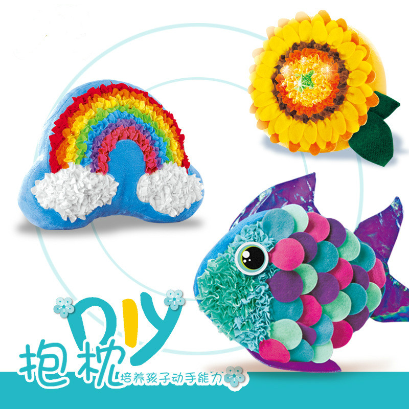 Handmade Diy Material Package For Parents And Children Kids Girl Diy Toy Creative Pillow  Plush Toy