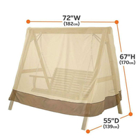 Open Air Three Seater A Frame Swing Set Cover Sunscreen UV Protection Waterproof Chair Hammock Canopy Swing Chair Awning