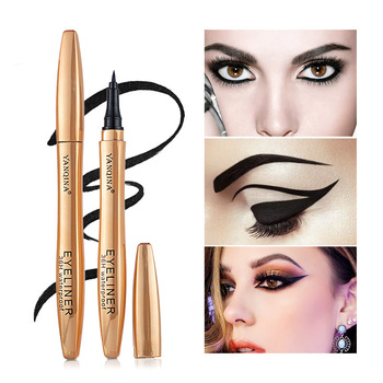 Yanqina Cool Black 3d Eyeliner Quick Dry Waterproof Durable 36h Gel Liner Eyebrow Eye Pencil Cosmetics Eyebrow Waterproof Makeup