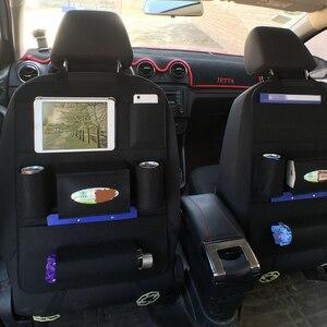 Image 1 - Multi Pocket Car Seat Back Organizer Wool Felt Storage Container Hanging Box Multifunction Vehicle Storage Bag Car styling