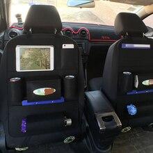 Organizador de asiento trasero de coche de múltiples bolsillos, contenedor de almacenamiento de fieltro de lana, caja colgante, bolsa de almacenamiento de vehículo multifunción, estilo de coche
