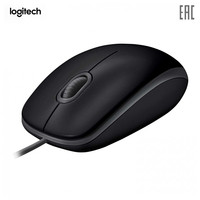 Mouse Logitech 910 005508 Computer Peripherals wireless gaming mice mouses for a laptop PC B110 Silent (B110s) Black 1000dpi USB