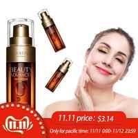 50ml Hyaluronic Acid Ginseng Essence Anti Wrinkle Face Serum Vitaminis Collagen Pore Minimizer Moisturizing Firm Aging Skin Care
