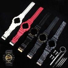 Ремешок для часов Casio g-shock, чехол с ремешком, набор GA-100/110/120 GD-100/110/120 GAX-100, аксессуары для часов, силиконовый ремешок для часов