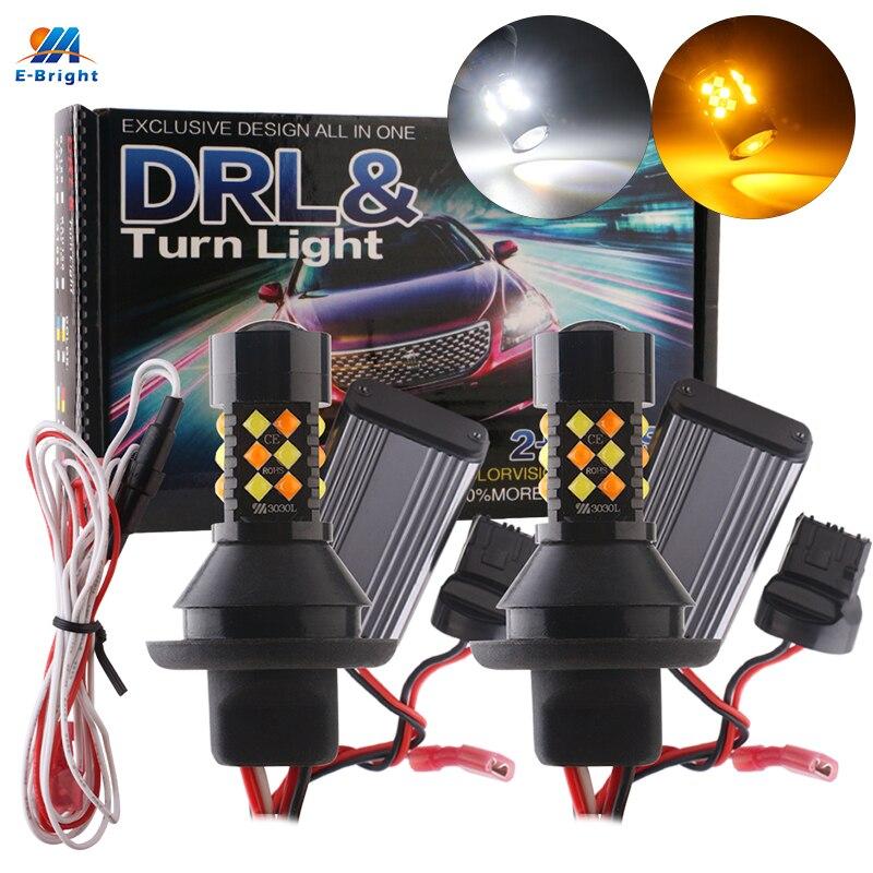 1 комплект светодиодный Canbus 3030 1156 P21W BA15S PY21W BAU15S 3156 7440 W21W T20 дневные ходовые огни указатели поворота ошибок переключатель двойной Цвет