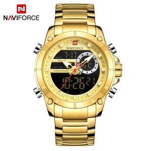 Image 5 - ใหม่ผู้ชายNAVIFORCEทหารแฟชั่นนาฬิกาควอตซ์นาฬิกาข้อมือกันน้ำแบบDualแสดงนาฬิกาชายนาฬิกาRelogio Masculino