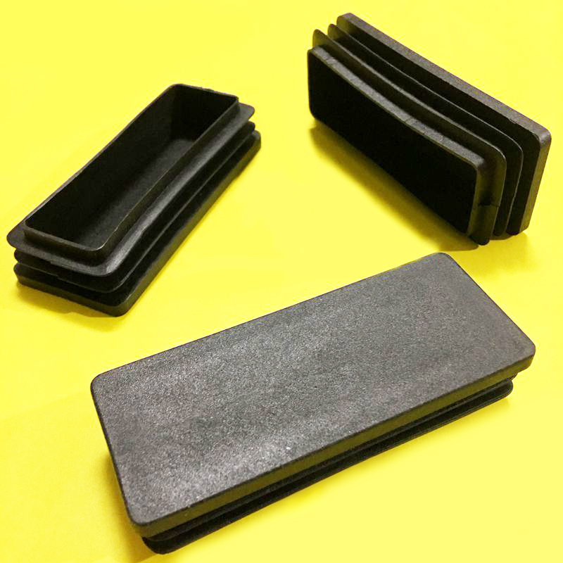 for round tubes 4 Saddle feets with 1 pin 5,7mm Plastic Black