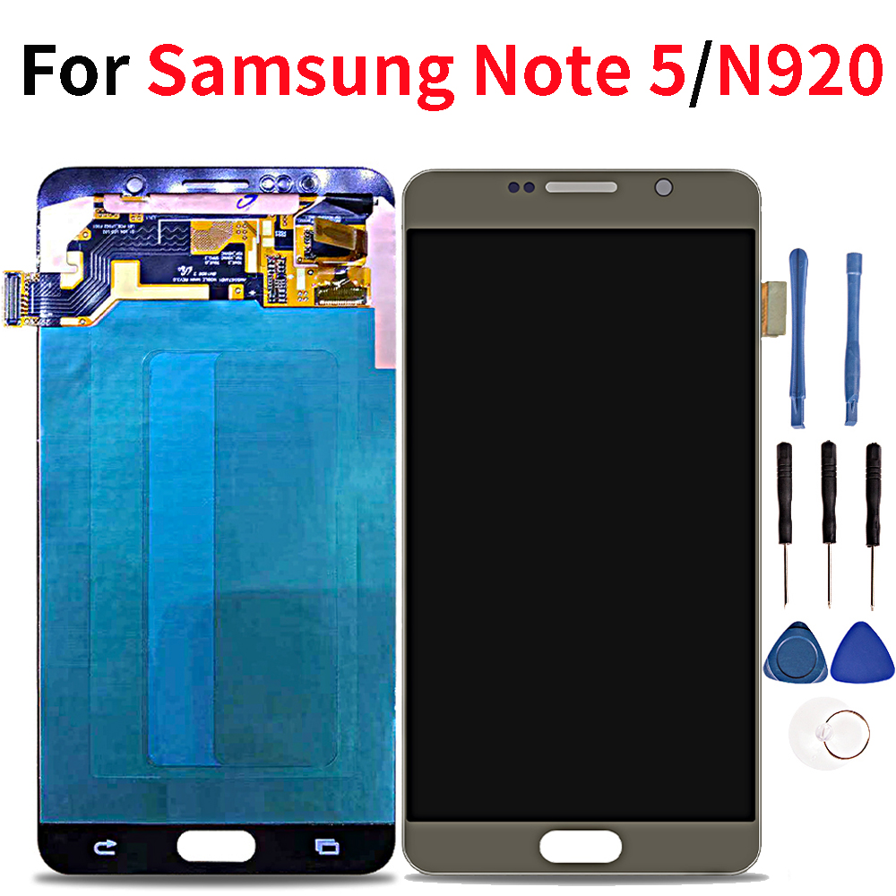 "5,7 ""LCD para Samsung Galaxy Note 5 pantalla LCD pantalla táctil para Samsung Note 5 Note5 N9200 N920 N920A N920C-in Teléfono Móvil LCD pantallas from Teléfonos celulares y telecomunicaciones on AliExpress - 11.11_Double 11_Singles' Day 1"