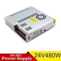 Profesional de la fuente de alimentación de CC 24V 120W 150W 180W 200W 250W 360W 400W 480W transformadores de controlador AC a DC24V SMPS para 3D impresora
