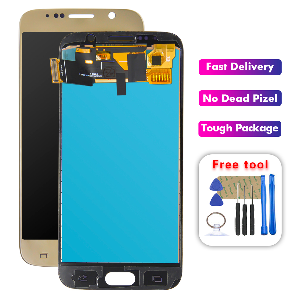 S6 For <font><b>SAMSUNG</b></font> GALAXY S6 <font><b>G920</b></font> SM-G920F G920F G920FD LCD <font><b>Display</b></font> Screen Digitizer Touch Panel Glass Sensor Assembly Replacement image