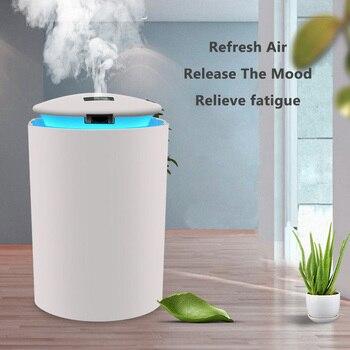 Eloole mini umidificador de ar para casa usb garrafa aroma difusor led backlight para escritório névoa maker presente umidificação refrescante