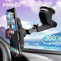 FONKEN del teléfono del coche soporte escalable de vidrio escritorio en coche soporte de soporte móvil de pantalla grande Smartphone GPS soporte para Auto