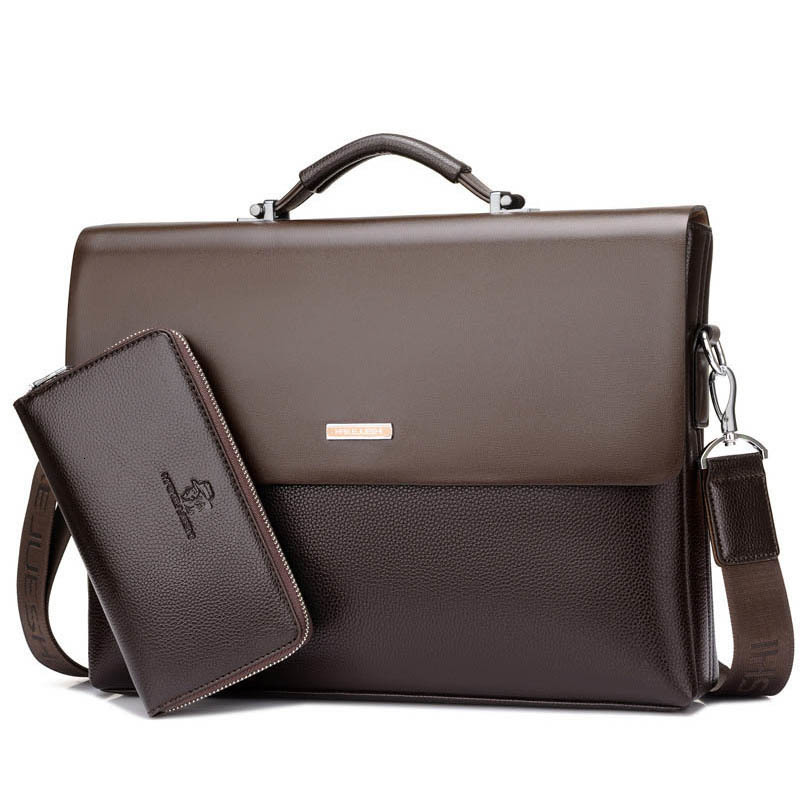 2019 Brand Men Bag Real Genuine Leather Men's Briefcase Famous Brand Designer Shoulder Bags Laptop Messenger Bag Men Handbag