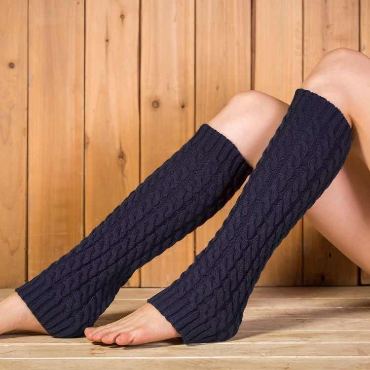 Zimowe getry dla kobiet moda getry mankiety na buty kobieta zimowe zakolanówki ciepłe skarpetki buty nogi okłady wełniane udo