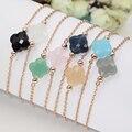 FORIS модные ювелирные изделия браслет из розового золота с камнями для женщин лучший подарок 13 цветов
