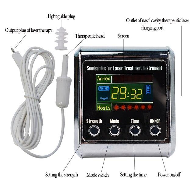 Diodo de fisioterapia para uso doméstico, diodo com laser medidor de pulso para tratamento de hipertensão, diabetes, para uso doméstico LLLT 650nm 2