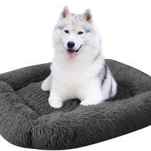 Kennel Dog Cushion-Mat Pet-Bed Plush Puppy Warm-Sleeping-Bag Square Cat Winter Portable