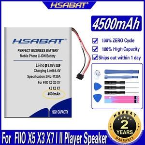 Hsabat 4500 Mah Batterij Voor Fiio X5 X3 X7 I Ii Player Speaker Batterijen(China)