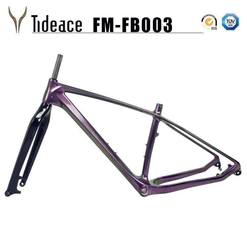 2019 Carbon Fat Bike Frame With Fork 26er Max 5.0 Tires Carbon Snow Bike Frameset Carbon Fat Bike Frame+fork